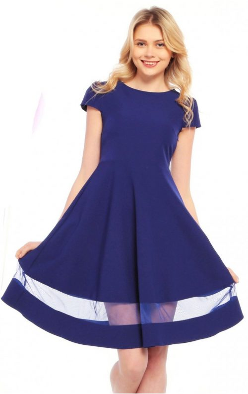 Kloş Etekli Mavi Mezuniyet Kıyafeti