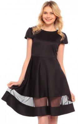 Kloş Etekli Siyah Mezuniyet Kıyafeti