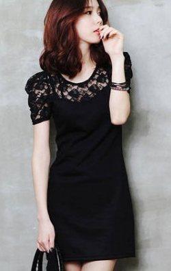 Japon Style Dantelli Elbise