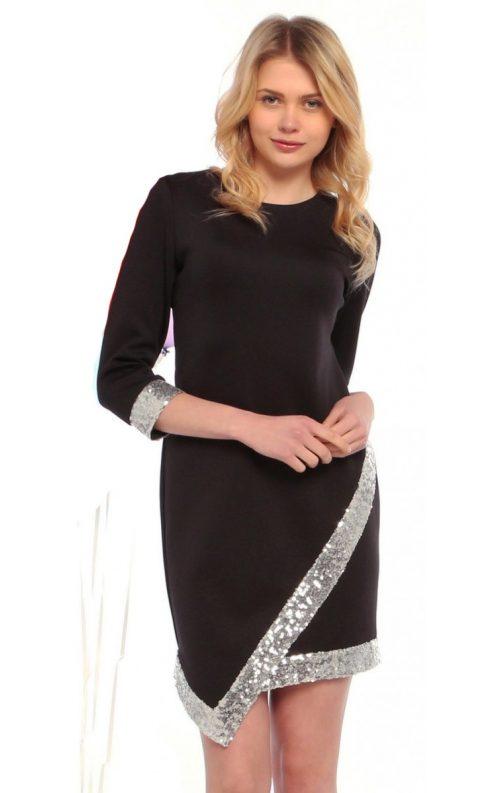 Parlak Şeritli Elbise