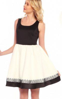Siyah Beyaz Kabarık Elbise