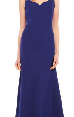 Mavi Uzun Elbise