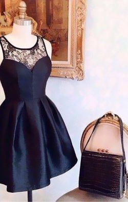 Kabarık Siyah Elbise