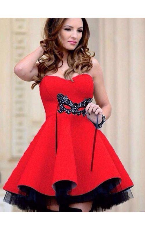 Kırmızı Balon Elbise
