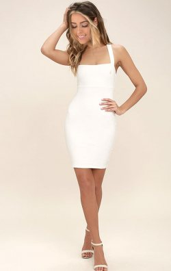 Sırtı Çapraz Askılı Elbise
