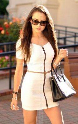 Fermurlı 2 parça mini elbise