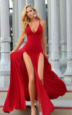 Hera Yırtmaçlı Elbise