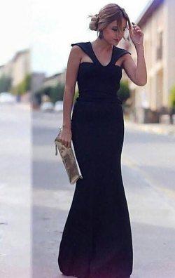 Uzun Wine Elbise