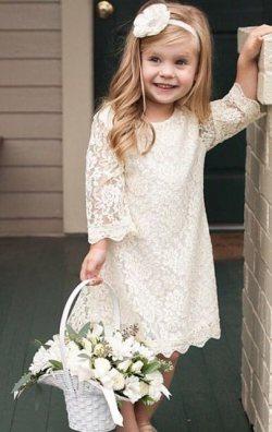 Kız Çocuk Dantel Elbise