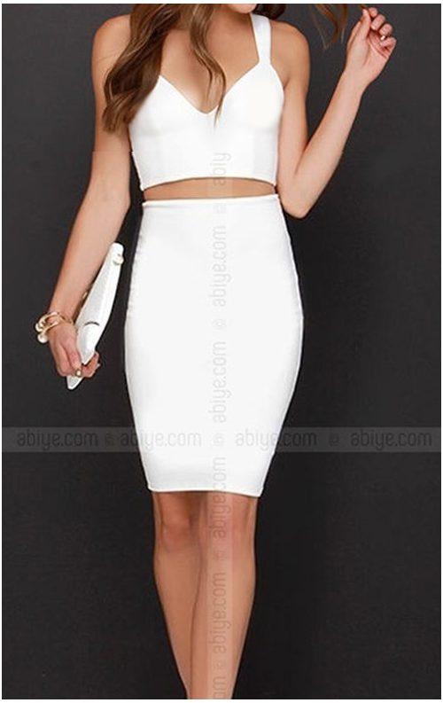 İki Parça Mini Elbise