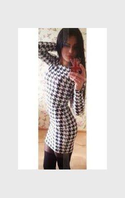 Kazayağı Desenli Mini Elbise