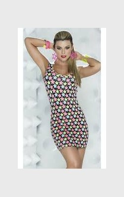 Star mini elbise