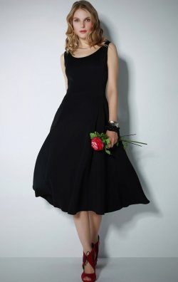 İnce Askılı Midi Elbise