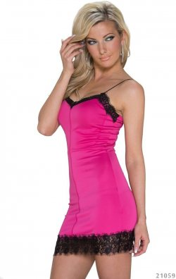 Dalgıç Kumaş Mini Elbise