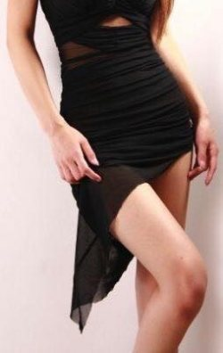 Black Style Mini Elbise