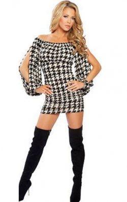Kolları Yırtmaçlı Tarz Mini Elbise