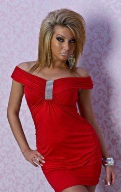 Özel Taşlı Seksi Mini Elbise