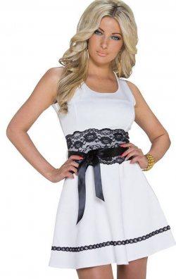 Dantel Şerit Mini Elbise
