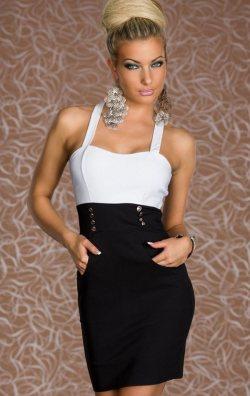 Sırtı Çapraz Mini Elbise