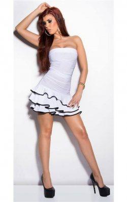 Fırfırlı Club Mini Elbise