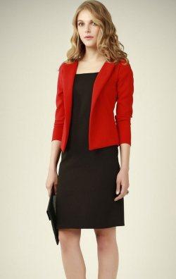Kırmızı Ceketli Elbise