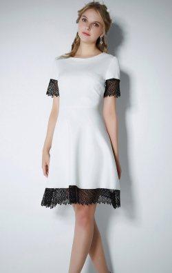 Güpürlü Şık Mini Elbise