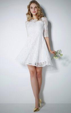 Dantelli Beyaz Elbise