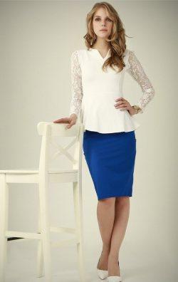 Kolları Dantel Beyaz Bluz