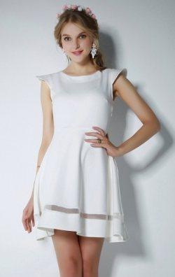 Beyaz Kloş Elbise