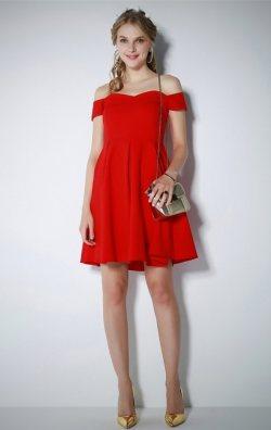 Kırmızı Kloş Elbise