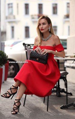 Rose Straplez Elbise