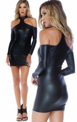 Özel Tasarım Deri Club Elbise