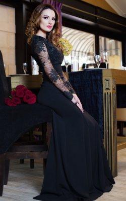 Siyah Uzun Abiye Elbise