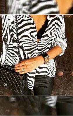 Zebra Desen Gömlek