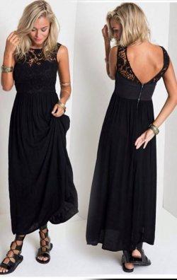 Buble Kumaş Uzun Elbise