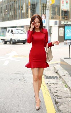Eteği Volanlı Japon Style Elbise