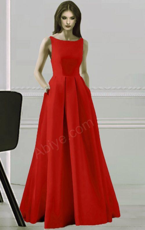 Kırmızı Elegant Elbise