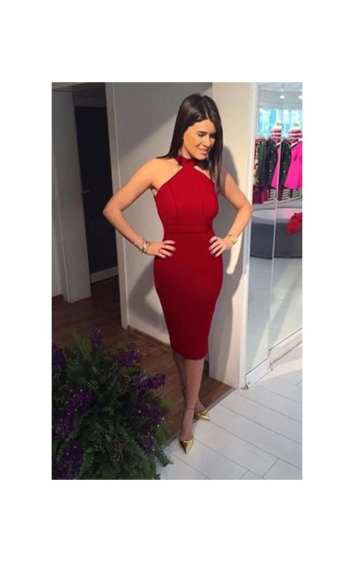 Kırmızı Kalem Elbise