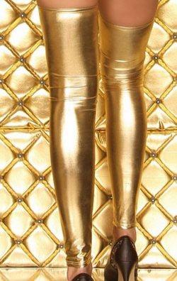 Parlak Gold Lame Çorap