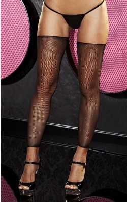 Kısa Siyah File Çorap