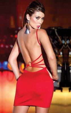 Sırt Dekolteli Kırmızı Club Elbise