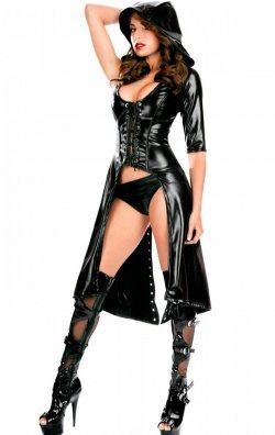 Ayarlanabilir Seksi Deri Kostüm