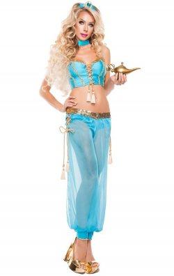 Mavi Dansöz Kostümü