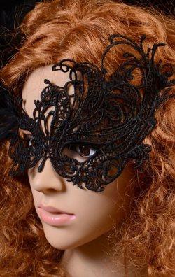 Siyah Dantel Tasarım Göz Maskesi