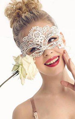 Beyaz Dantel Şık Göz Maskesi