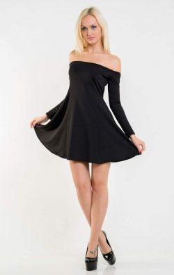 Kloş Etekli Straplez Mini Elbise