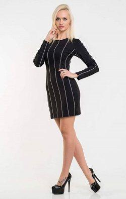 Parlak Taş Detay Siyah Kadife Elbise
