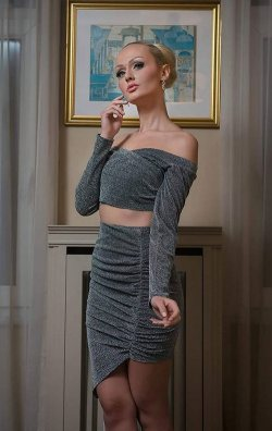 Asimetrik Kesim 2 Parça Mini Elbise