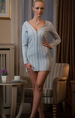 Bebe Mavisi Fermuarlı Mini Elbise