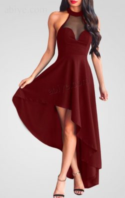 Yandan Asimetrik Kesim Elbise